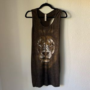 Freeloader ModCloth racerback lion graphic tunic